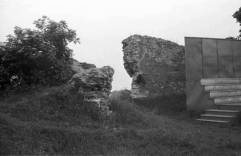1988 р. Фрагменти чільного муру. Вигляд з північного сходу