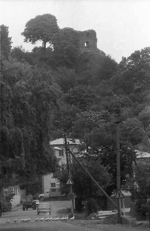 1988 р. Замкова гора з баштою. Вигляд із заходу