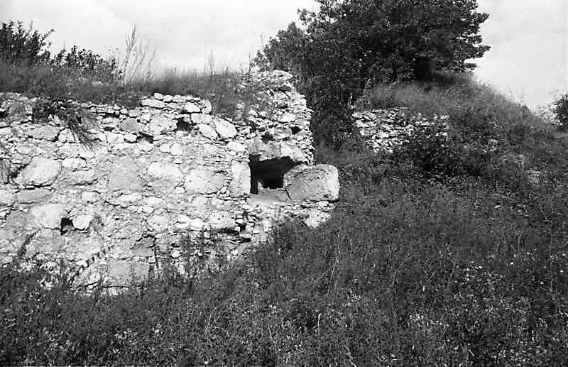1988 р. Фрагмент південно-західного муру. Вигляд з південного заходу