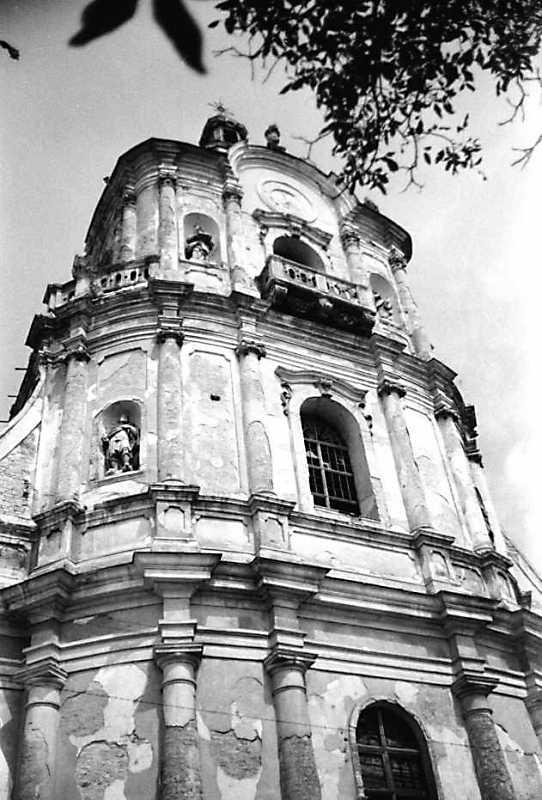 1989 р. Верхня частина головного фасаду. Вигляд з південного заходу