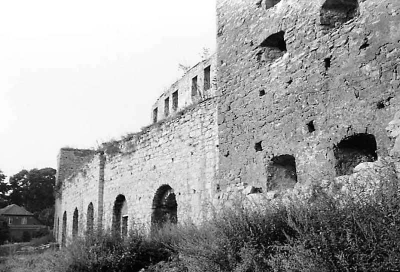 1989 р. Західний мур і фрагмент південної башти. Вигляд з півдня