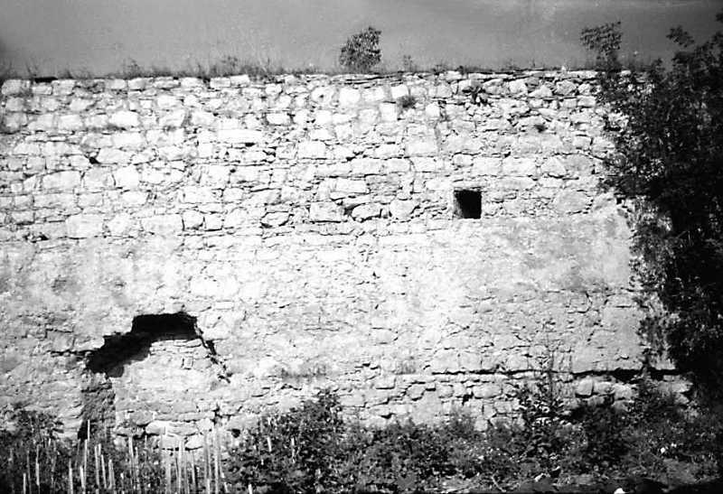 1989 р. Фрагмент східного муру із замурованою фірткою. Вигляд зі сходу