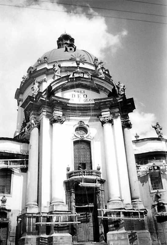 1987 р. Центральна частина головного фасаду. Вигляд із заходу