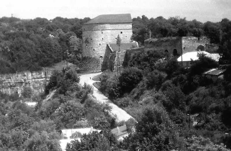 1991 р. Кушнірська башта і Турецький бастіон. Вигляд із заходу