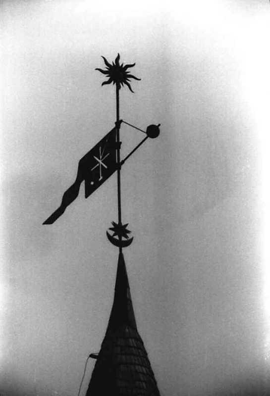 Флюгер на башті Рожанка