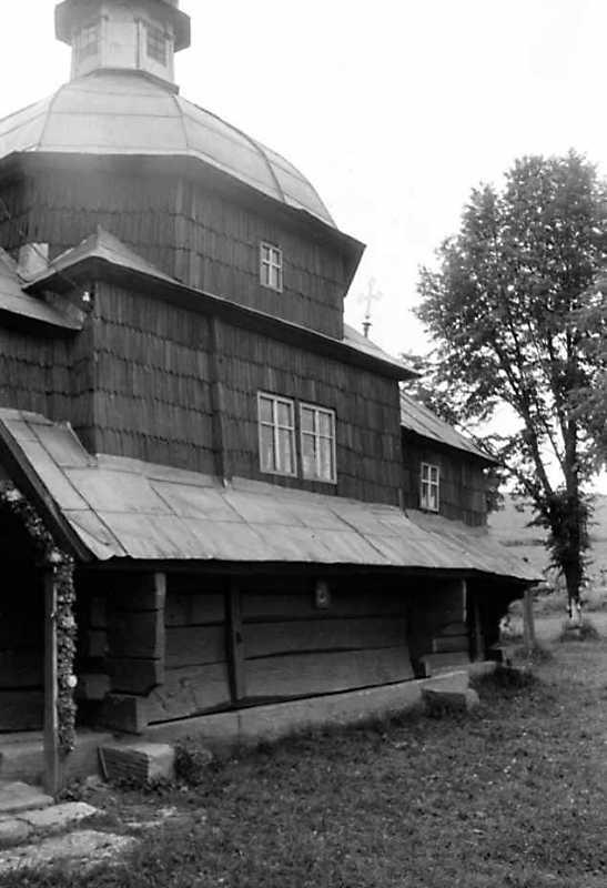 1991 р. Стара церква. Південний фасад. Вигляд з південного заходу