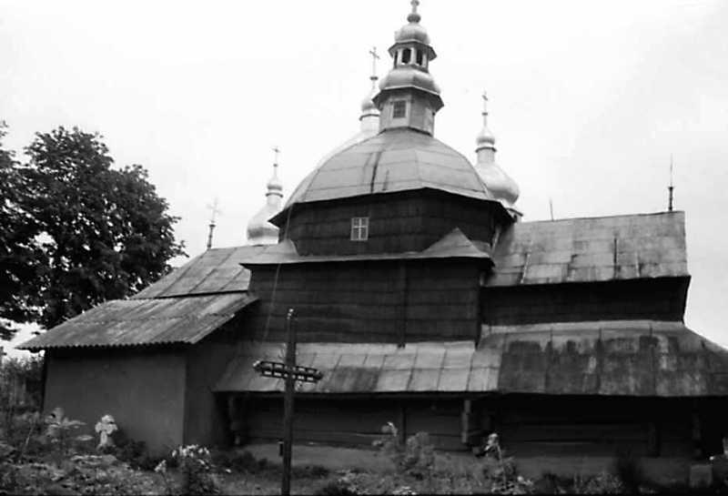 1991 р. Стара церква. Вигляд з півночі