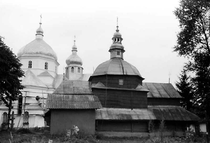 1991 р. Нова і стара церкви. Вигляд з півночі