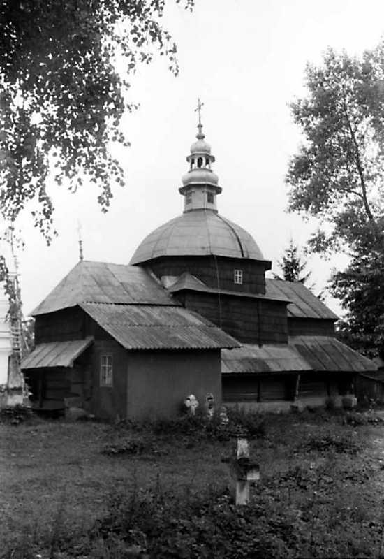 1991 р. Стара церква. Вигляд з північного сходу