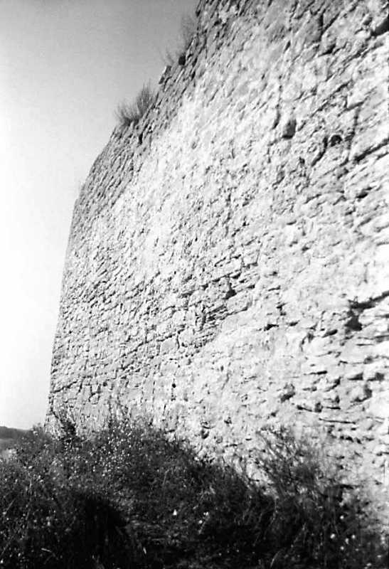 1991 р. Фрагмент західного муру. Вигляд з південного заходу