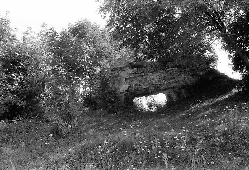 1991р. Фрагмент західного муру з брамою. Вигляд із заходу