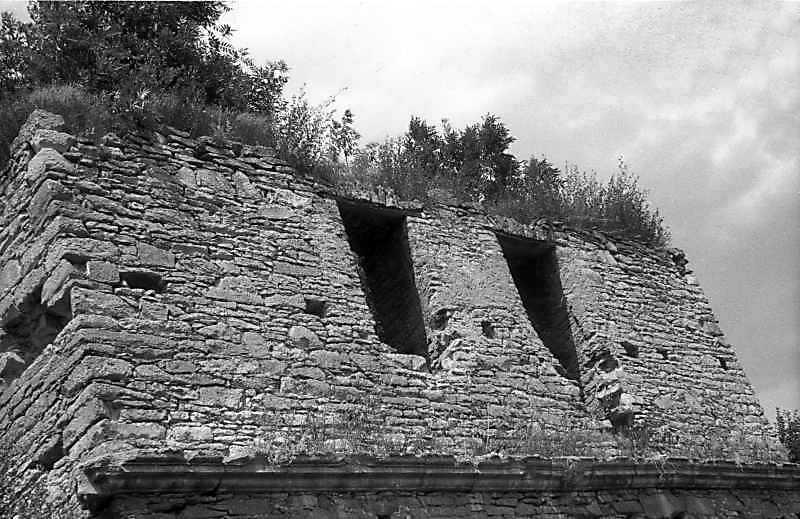 1992 р. Верхній ярус надбрамної башти. Вигляд з південного сходу