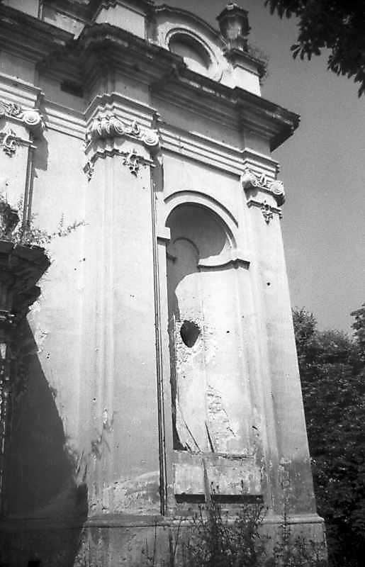 1993 р. Північна частина головного фасаду. Вигляд з південного сходу