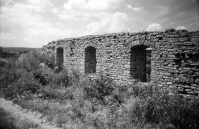1995 р. Північно-західний мур. Вигляд зі сходу, з боку двора