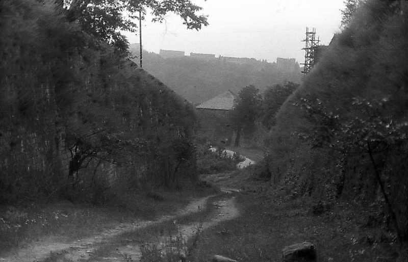 1995 р. Північний рів на тлі Старого замку. Вигляд із заходу