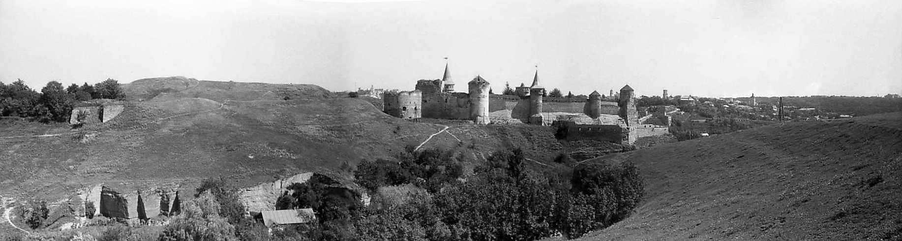 1996 р. Панорама Нового і Старого замків з південного заходу