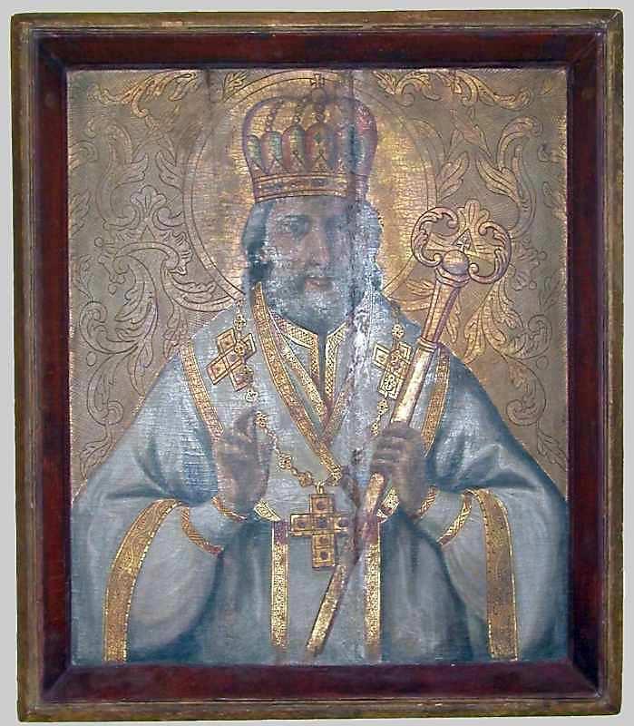 Св.Микола. 18 ст. Дерево, олія, різьблення, позолота