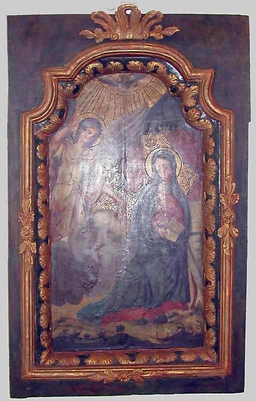 Благовіщення. 18 ст. Різьблення по дереву, олія, позолота