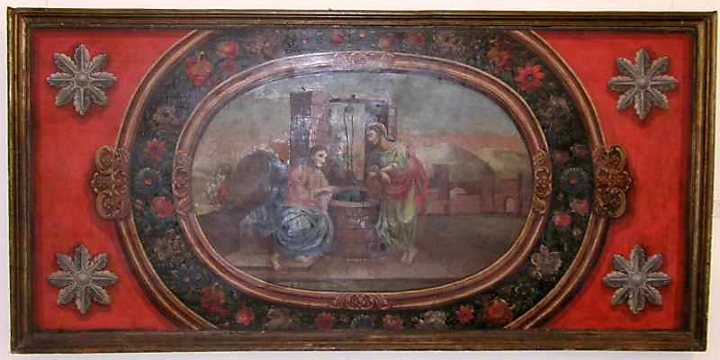 Христос і самаритянка. 18 ст. Дерево, олія