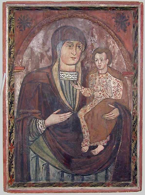 Богородиця Одигітрія. 17 ст. Дерево, левкас, темпера