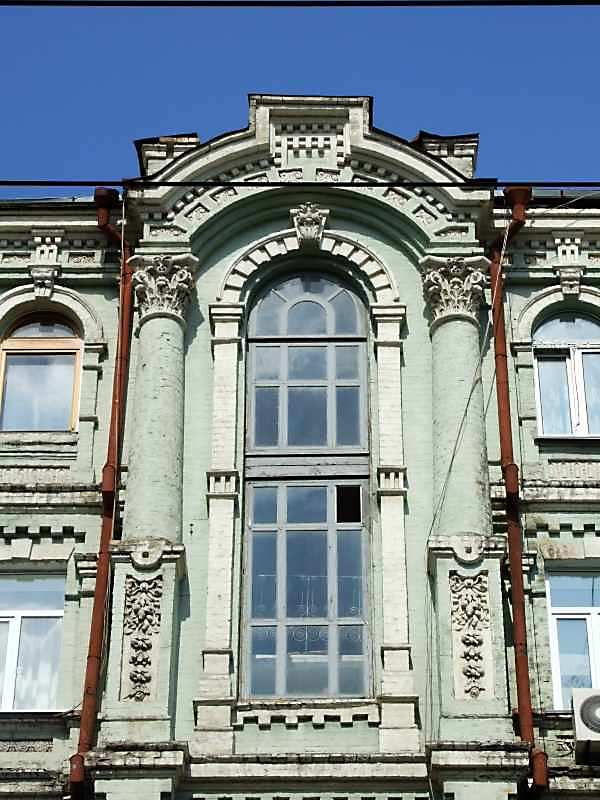 2007 р. Центральна частина 4-5-го поверхів головного фасаду