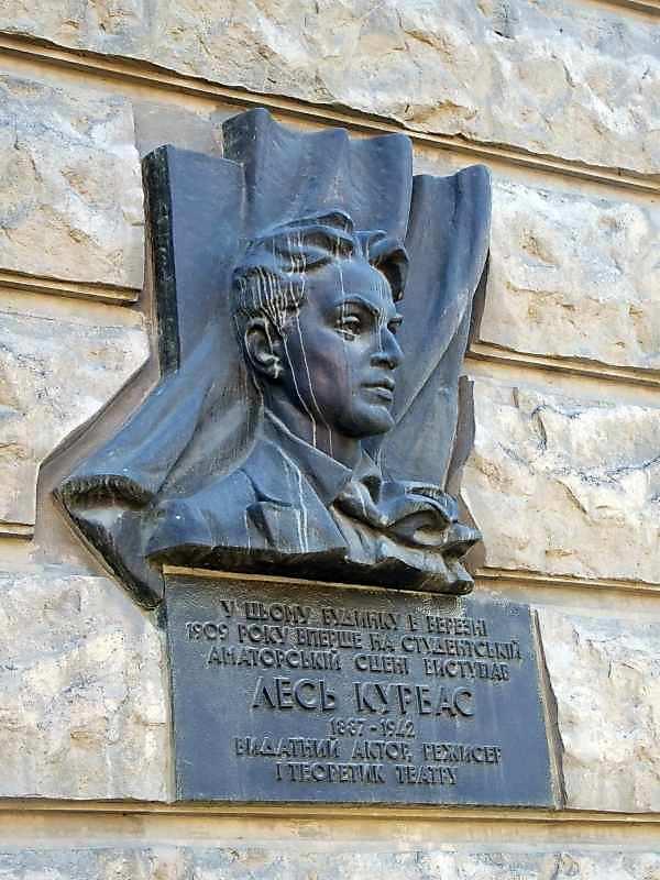 Меморіальна дошка Л.Курбасу