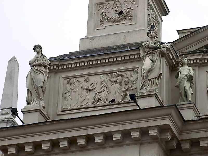 Фрагмент постаменту скульптури «Перемога»
