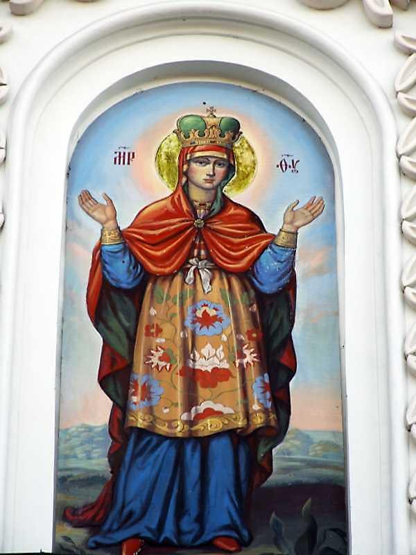 Богородиця Знамення (Середній ярус. Центральна ніша)
