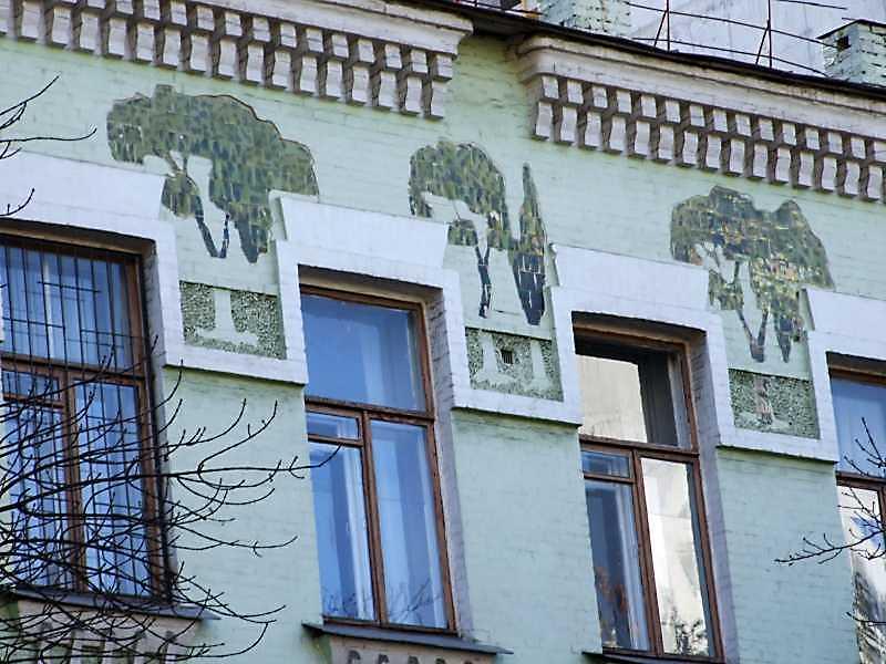 Фрагмент фасаду з розписом