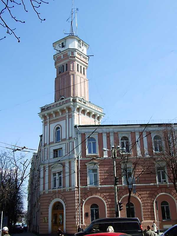2009 р. Каланча. Вигляд з боку вул. Володимирської