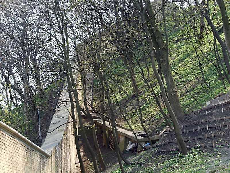 2009 р. Ділянка на схилі від Дальніх печер до Нижнього двора. Вигляд з півнjx3