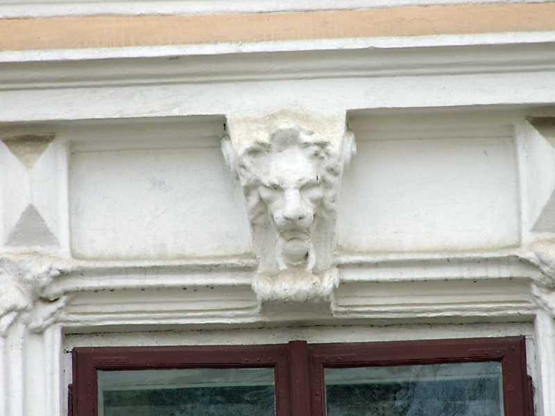 Маскарон лева