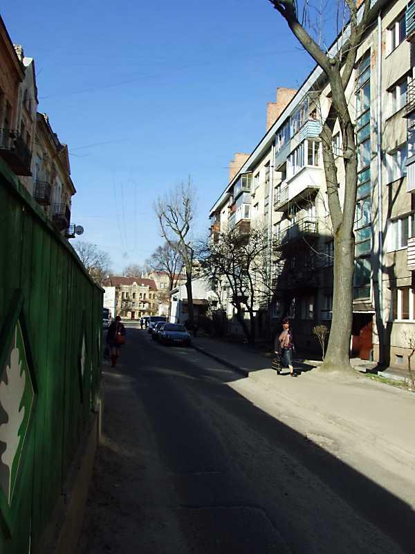 2013 р. Перспектива від вул. Зеленої в бік вул. К. Левицького