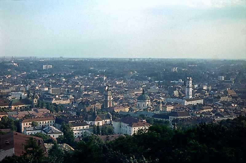 1977 р. Вид з Високого замку на історичний центр міста