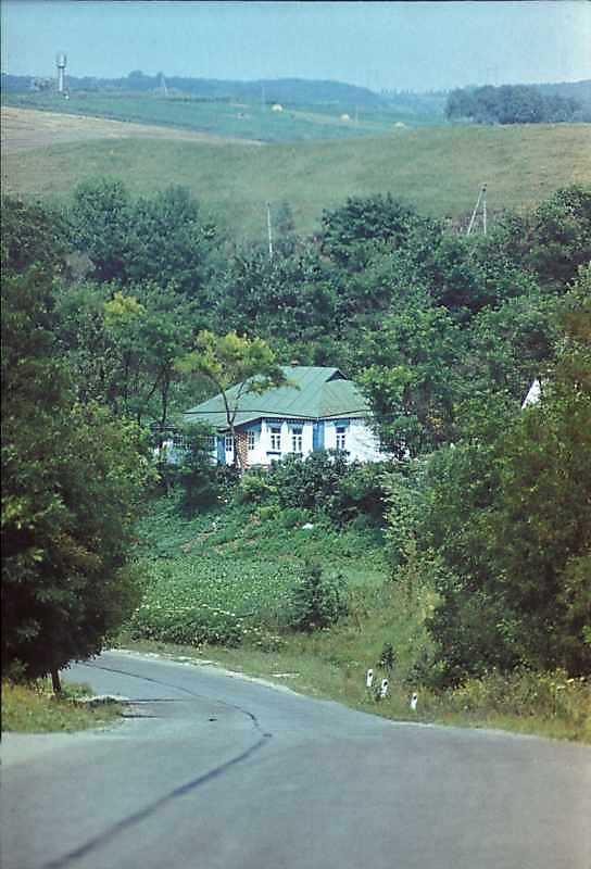 1985 р. Краєвид з дорогою і хатою